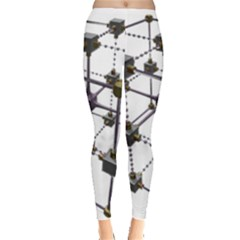 Grid Construction Structure Metal Leggings