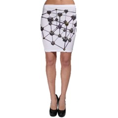 Grid Construction Structure Metal Bodycon Skirt