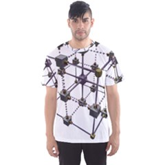 Grid Construction Structure Metal Men s Sport Mesh Tee