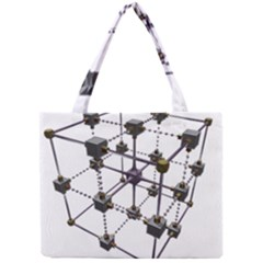 Grid Construction Structure Metal Mini Tote Bag