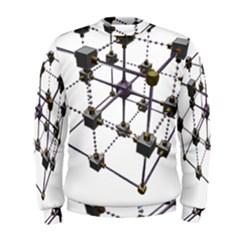 Grid Construction Structure Metal Men s Sweatshirt