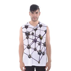 Grid Construction Structure Metal Men s Basketball Tank Top