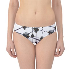 Grid Construction Structure Metal Hipster Bikini Bottoms