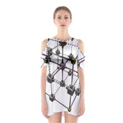 Grid Construction Structure Metal Shoulder Cutout One Piece