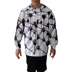 Grid Construction Structure Metal Hooded Wind Breaker (kids)