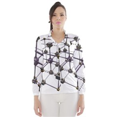 Grid Construction Structure Metal Wind Breaker (Women)