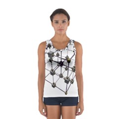 Grid Construction Structure Metal Women s Sport Tank Top