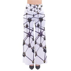 Grid Construction Structure Metal Pants