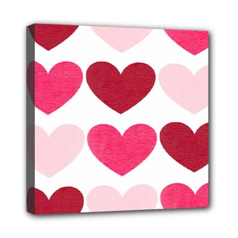 Valentine S Day Hearts Mini Canvas 8  x 8