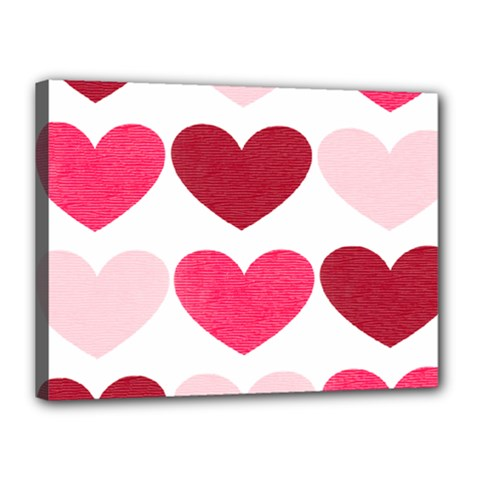 Valentine S Day Hearts Canvas 16  x 12