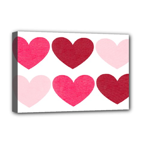 Valentine S Day Hearts Deluxe Canvas 18  x 12