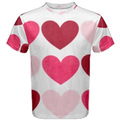 Valentine S Day Hearts Men s Cotton Tee