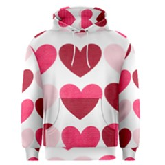Valentine S Day Hearts Men s Pullover Hoodie
