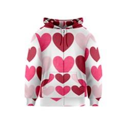 Valentine S Day Hearts Kids  Zipper Hoodie