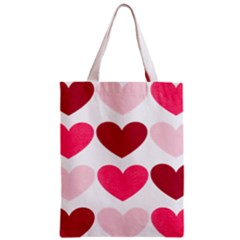 Valentine S Day Hearts Zipper Classic Tote Bag