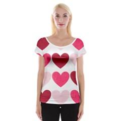 Valentine S Day Hearts Women s Cap Sleeve Top