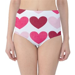 Valentine S Day Hearts High-Waist Bikini Bottoms