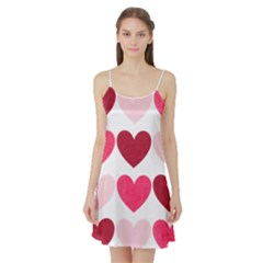 Valentine S Day Hearts Satin Night Slip