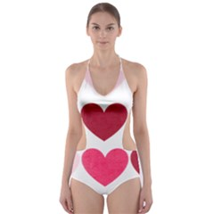 Valentine S Day Hearts Cut-Out One Piece Swimsuit