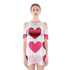 Valentine S Day Hearts Shoulder Cutout One Piece