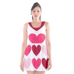 Valentine S Day Hearts Scoop Neck Skater Dress