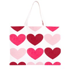 Valentine S Day Hearts Large Tote Bag