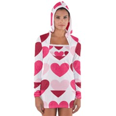 Valentine S Day Hearts Women s Long Sleeve Hooded T-shirt