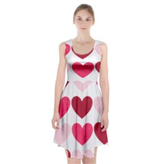 Valentine S Day Hearts Racerback Midi Dress
