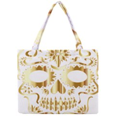 Sugar Skull Bones Calavera Ornate Mini Tote Bag