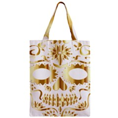 Sugar Skull Bones Calavera Ornate Zipper Classic Tote Bag