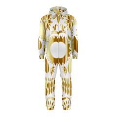 Sugar Skull Bones Calavera Ornate Hooded Jumpsuit (Kids)