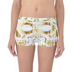 Sugar Skull Bones Calavera Ornate Boyleg Bikini Bottoms