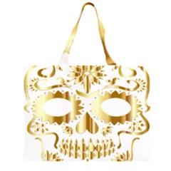 Sugar Skull Bones Calavera Ornate Large Tote Bag