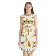 Sugar Skull Bones Calavera Ornate Sleeveless Chiffon Dress