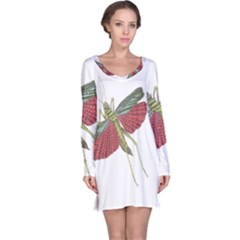 Grasshopper Insect Animal Isolated Long Sleeve Nightdress