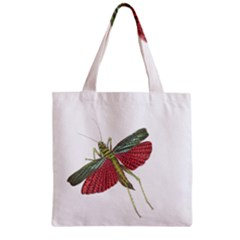 Grasshopper Insect Animal Isolated Zipper Grocery Tote Bag