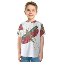 Grasshopper Insect Animal Isolated Kids  Sport Mesh Tee