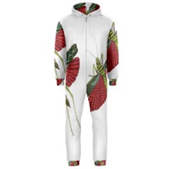 Grasshopper Insect Animal Isolated Hooded Jumpsuit (Men)