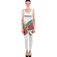Grasshopper Insect Animal Isolated OnePiece Catsuit
