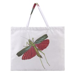 Grasshopper Insect Animal Isolated Zipper Large Tote Bag
