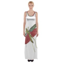 Grasshopper Insect Animal Isolated Maxi Thigh Split Dress