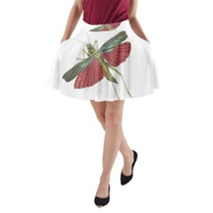 Grasshopper Insect Animal Isolated A-Line Pocket Skirt