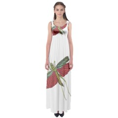 Grasshopper Insect Animal Isolated Empire Waist Maxi Dress