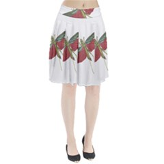 Grasshopper Insect Animal Isolated Pleated Skirt
