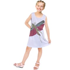 Grasshopper Insect Animal Isolated Kids  Tunic Dress