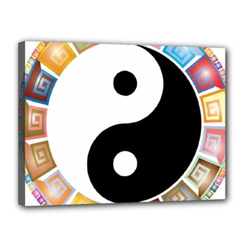Yin Yang Eastern Asian Philosophy Canvas 16  x 12
