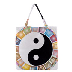 Yin Yang Eastern Asian Philosophy Grocery Tote Bag