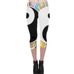 Yin Yang Eastern Asian Philosophy Capri Leggings