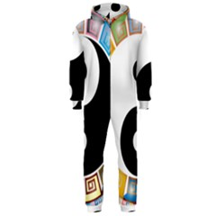 Yin Yang Eastern Asian Philosophy Hooded Jumpsuit (men)