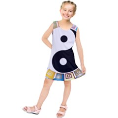 Yin Yang Eastern Asian Philosophy Kids  Tunic Dress